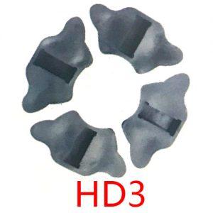 摩托车配件缓冲胶块 HD3减震胶垫